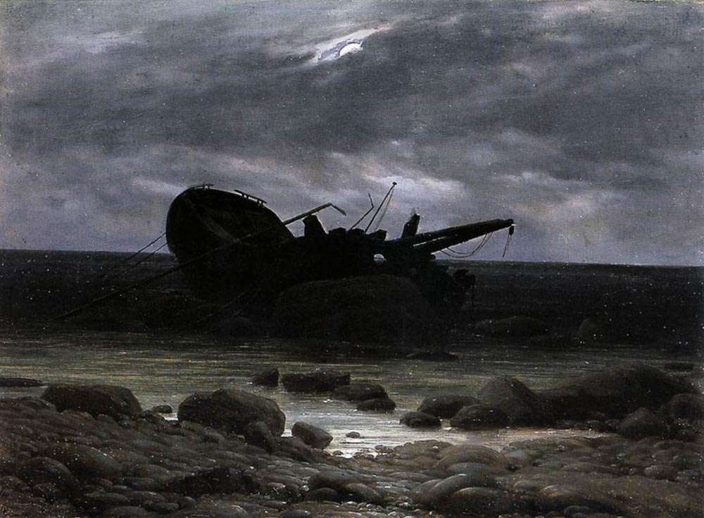 FRIEDRICH_Caspar_David_Wreck_In_The_Moonlight